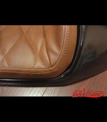 Cafe Racer seat CR12 Black RHOMBUS