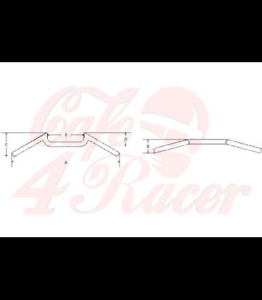 Handlebar FEHLING - M-bar, 7/8 inch, 57,5 cm