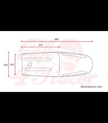 Sedadlo Cafe Racer classic CRV Čierna LINE