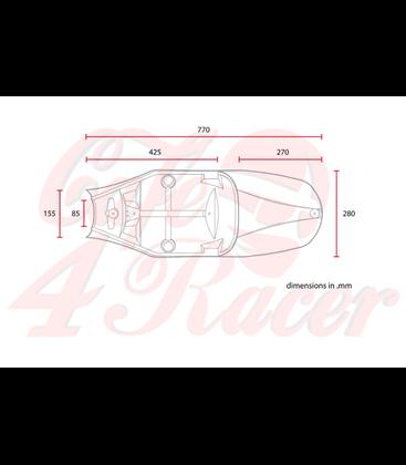 Triumph Bonneville Café Racer seat Hnedá  SQUARE