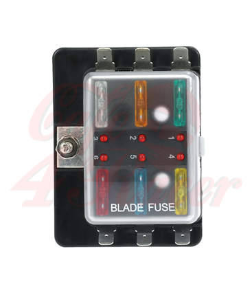 Fuse Box 4/6/8  Way  with LED Warning Light