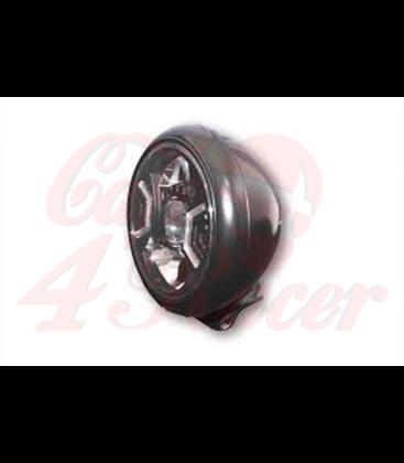 HIGHSIDER  130 mm LED main headlight MIAMI black/chrome