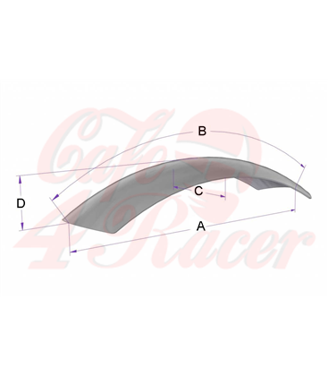 Front  Fender 115mm x 760mm Stainless Steel