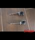 Universal headlight brackets 30-38 mm black/chrome