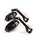 Round Handle Bar End Side Mirrors CR2  black CNC