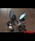 Okrúhle spätné zrkadá CR2  čierne CNC