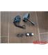 Round Handle Bar End Side Mirrors CR5  black CNC