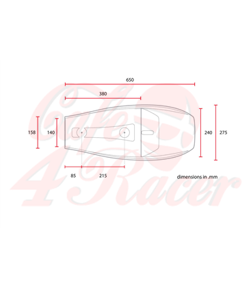 Sedadlo Tracker Flat Scrambler  Brown Line