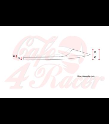 Tracker Flat Scrambler seat  White LINE