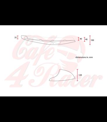 SR400 Flat & Cowl  Cafe racer seat  Black LINE