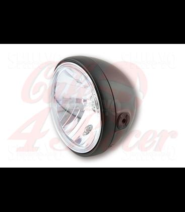 SHIN YO 7 inch headlamp SANTA FE, matt black, gloss black, chrome