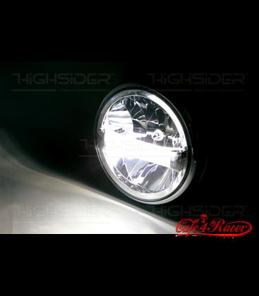 HIGHSIDER 7 inch LED headlight BRITISH-STYLE TYPE 4 chróm