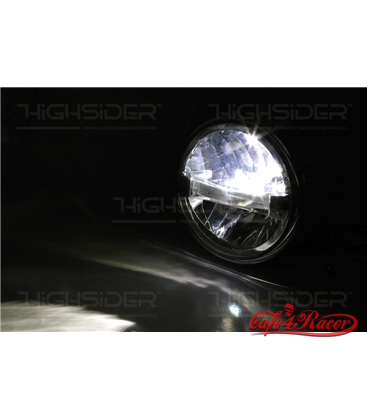 HIGHSIDER 7 inch LED headlight BRITISH-STYLE TYPE 4 chrome
