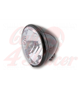 SHIN YO 6-1/2 inch main headlamp El Paso, glossy black, E-marked