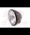 SHIN YO 6-1/2 inch main headlamp El Paso, glossy black, E-marked