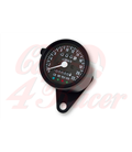 Universal  Speedometer  black with 4 function lights