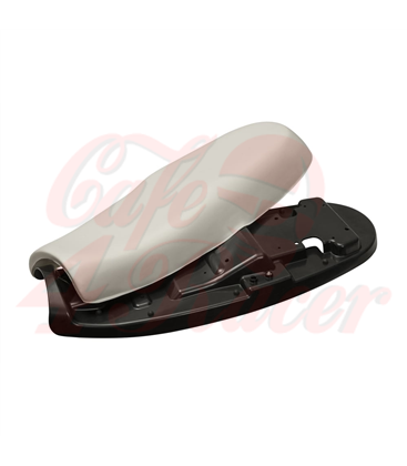 Bonneville Dual Seat - Tuck & Roll - Black