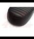 Bonneville Dual Seat - Tuck & Roll - Black