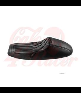 Bonneville Cafe Racer Seat - Diamondback - Black