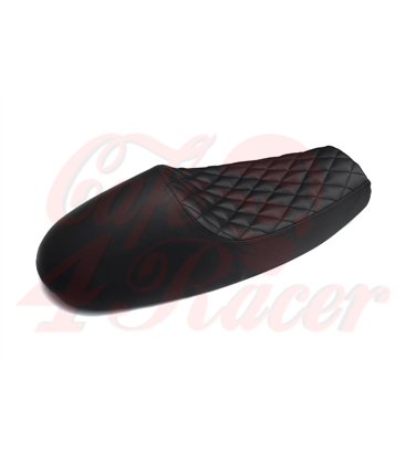 Bonneville Cafe Racer Seat - Diamond Stitch - Black