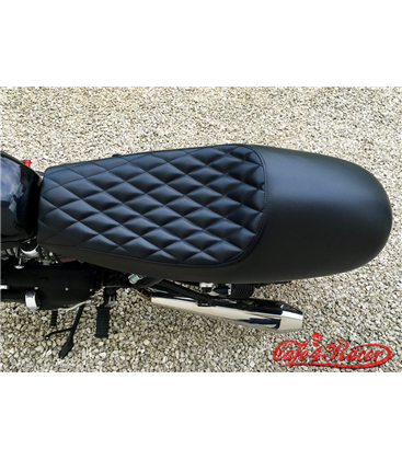 Bonneville Cafe Racer Seat - Diamondback - Black