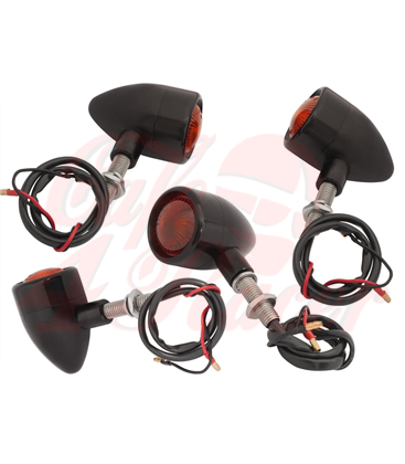 Custom Billet Indicator Turn Signals - Set of 4 - Black