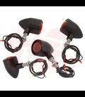 Custom Billet Indicator Turn Signals -  4ks - čierne