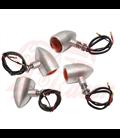 Custom Billet Indicator Turn Signals - Set of 4 - Brushed