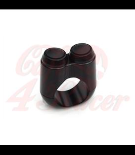 "Dual Micro Switch Button Housing - 22mm 7/8"" Handlebar - Black"