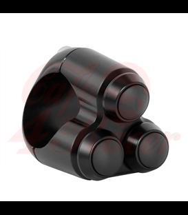 """Duálny Micro prepínač   pre riaditká  22mm 7/8"""" čierny"""