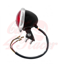 Mini Bates Tail Light - Stainless Fixings - LED - BLACK