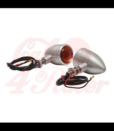 Custom Billet Indicator Turn Signals - Set of 2 - Brushed