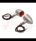 Custom Billet Indicator Turn Signals -  2ks - brúsený povrch