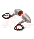 Custom Billet Indicator Turn Signals - Set of 2 - Brushed
