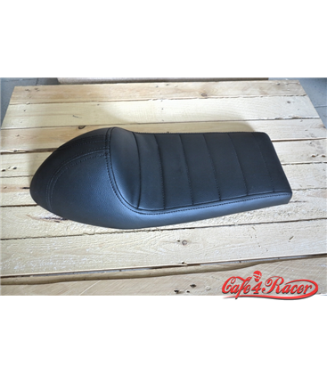 Cafe Racer seat CR11 Black STRAIGHT