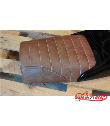 BMW R75/85/100 twin shock BMW Café Racer Scrambler seat BROWN Straight