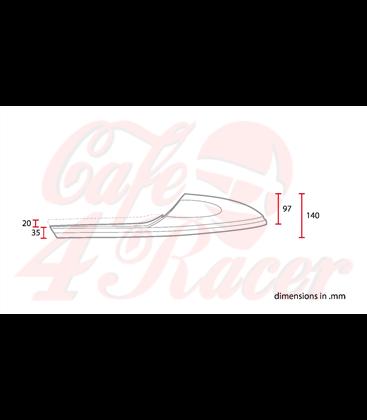 Cafe Racer seat CR11 Black ROMBUS