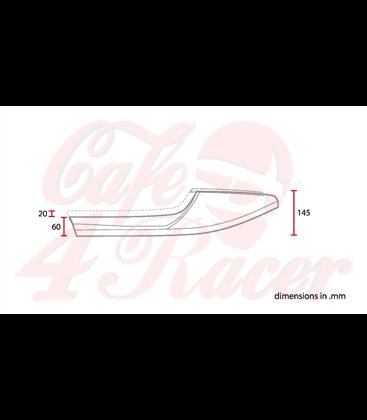 Sedadlo Cafe Racer CR16  Čierna ROMBUS
