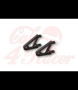 HIGHSIDER CNC Alu držiak predného svetla  čierny/chróm