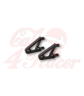 HIGHSIDER CNC Alu headlight bracket XS,  black/chrome EXTRA SHORT