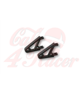HIGHSIDER CNC Alu headlight bracket XS,  black/chrome