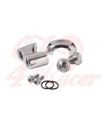 Dual Micro Switch Button Housing - One Inch Handlebar - Chrome