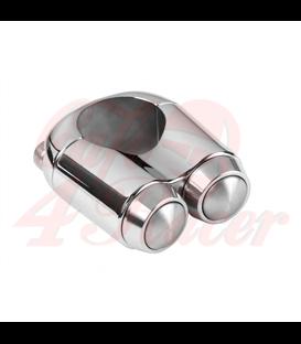 "Dual Micro Switch Button Housing - 22mm 7/8"" Handlebar - Chrome"
