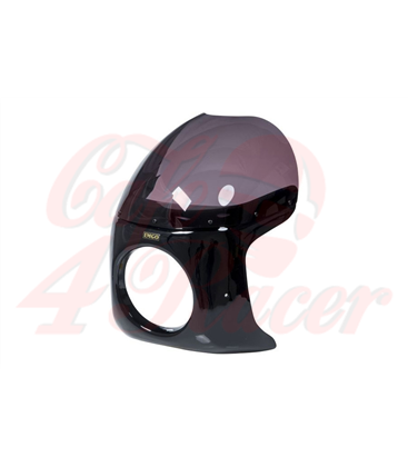 Cafe Racer Fairing Type 2 ABS unfinished black smoke screen