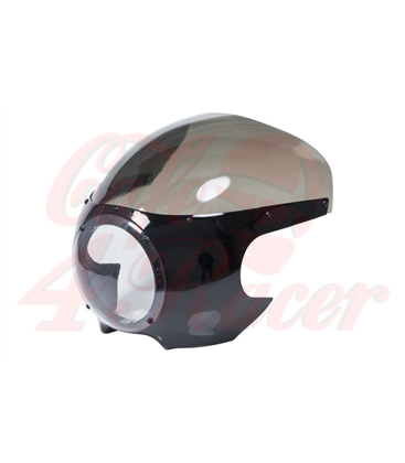 Cafe Racer Fairing Oldskool ABS unfinished black