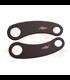 Wrap-Around Fork Indicator Turn Signal Bracket Clamps - Pair -  35/39/41/49mm - Black