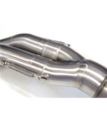High Pipe Titanium with visible welding for BMW R9T all models