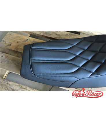 Triumph Bonneville Cafe Racer Seat - Diamondback - Black