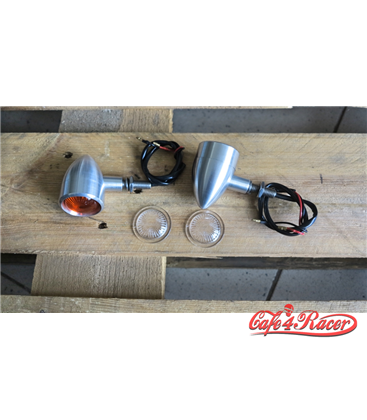 Custom Billet Indicator Turn Signals - Set of 4 - Brushed