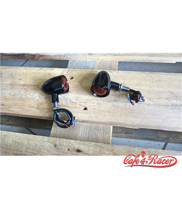 Custom Billet Indicator Turn Signals - Set of 2 - Black